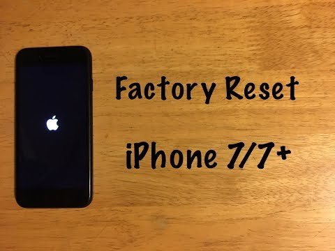 Factory Reset - iPhone 7 / 7 Plus (Reset to Factory Settings