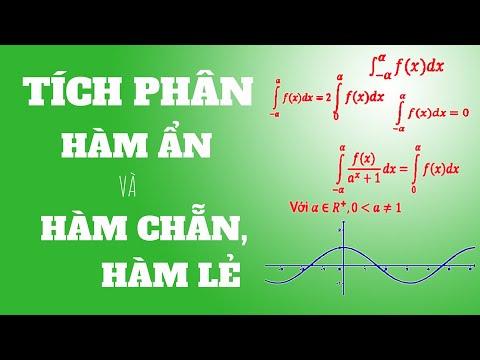 Tích phân của các hàm chẵn lẻ, công thức giải nhanh…| How to caculate an integral in 5s