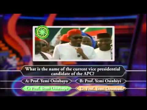 Who Wants to be a President [Starr. Buhari]