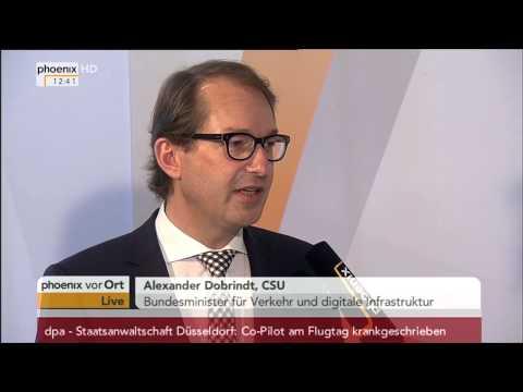 Pkw-Maut: Alexander Dobrindt im Interview am 27.03.2015