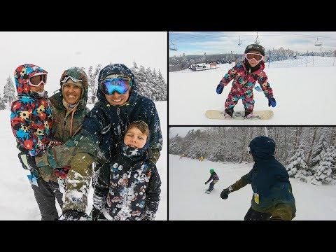 FAMILY SNOWBOARD Trip     Snowshoe, WV