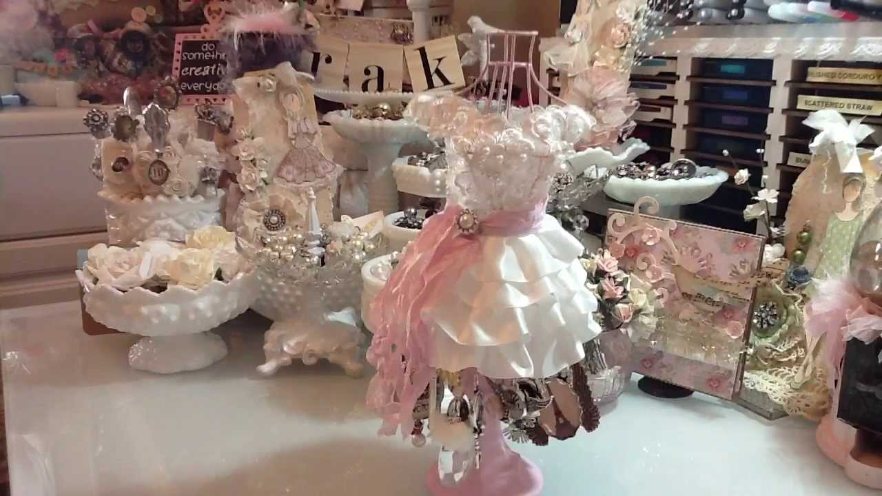 Altered Dress Form/ Art-i-cake display - YouTube
