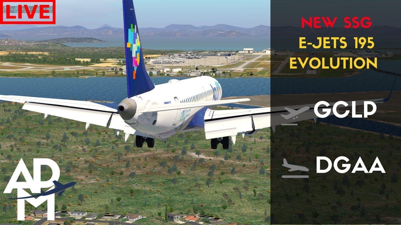 Xplane 11] NEW SSG E-JETS 195 EVOLUTION | AZU2700 | EMB 195 | GCLP