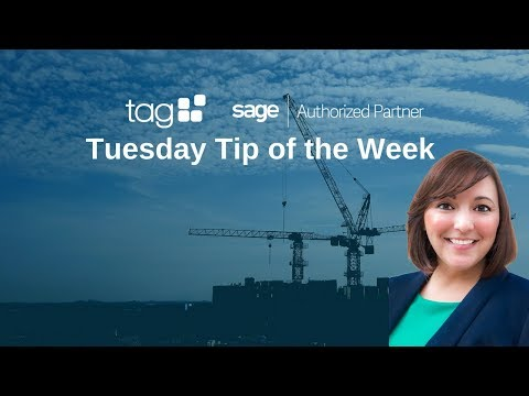 How To Update Cost to Complete in Sage 100 Contractor | TAG Tuesday Tip Video