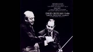 MENDELSSOHN: Violin Concerto in E minor op. 64 / Oistrakh · Ormandy · Philadelphia Orchestra