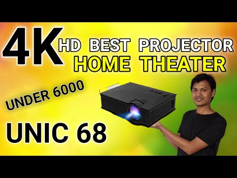 Best and Cheapest Cinema Wifi Projector Unic UC 68 Model 1800 Lumens Power | 20000 Hours Lamp Life.