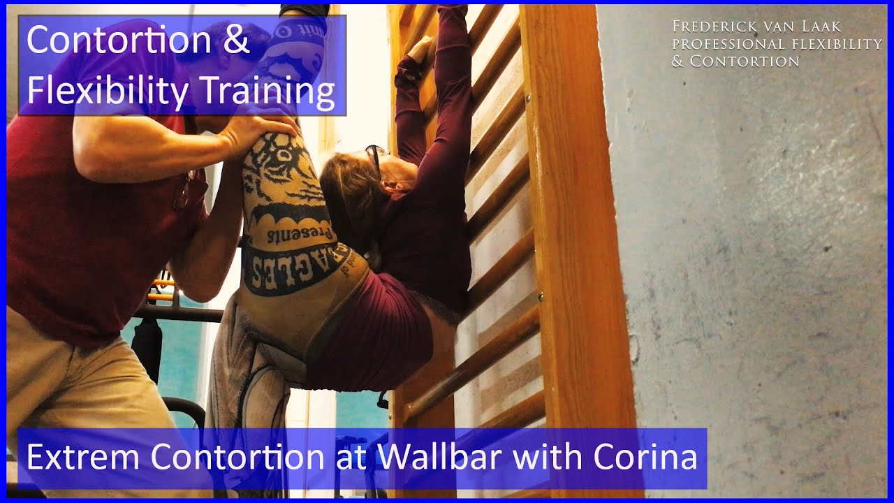 102 Flexyart Contortion Training: Flexi at the Wallbar   - Also for Yoga, Pole, Ballet, Dance People