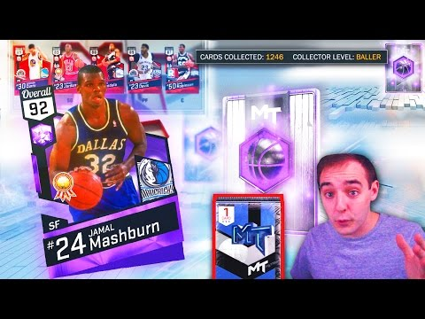 NBA 2K17 My Team NEW AMETHYST JAMAL MASHBURN! NEARLY AT 1300 CARDS!