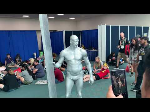 Silver Surfer Cosplay At San Diego Comic Con 2019