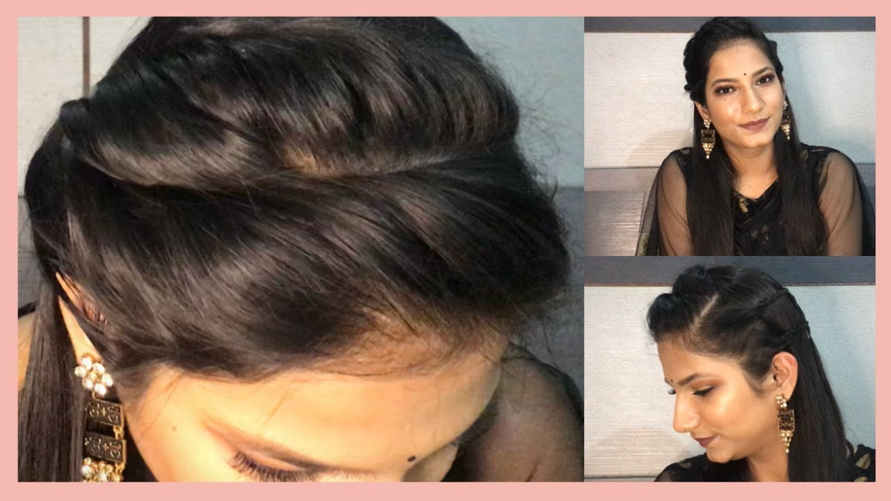easy indian party hairstyle | easy hairstyle for short to long hair 👩 |  geetika gia