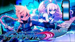 Azure Striker Gunvolt 2 - Walkthrough Gameplay Part 01 -  English  (3DS)