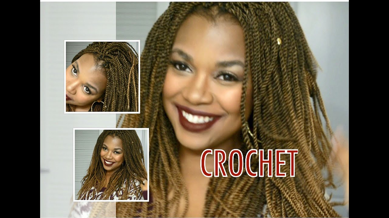 Crochet Hair Tutorial For Beginners : DIY CROCHET SENEGALESE TWIST CROCHET BRAIDS TUTORIAL FOR BEGINNERS ...