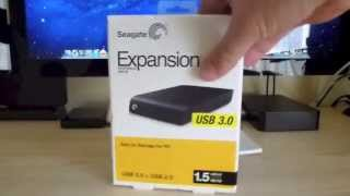 Segate Expansion 1.5 Terabyte USB 3 External Hard Drive