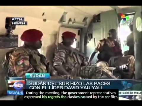 South Sudan gov. representatives negotiates with militia leader