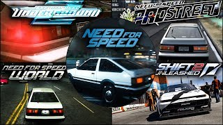Toyota Corolla GT-S (AE86) Evolution in NFS Games - 1080pHD