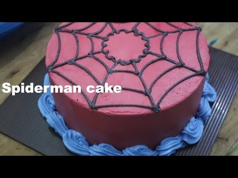 Cara Menghias Kue Ulang Tahun Spidermen Kue Karakter Anak Laki Laki Youtube