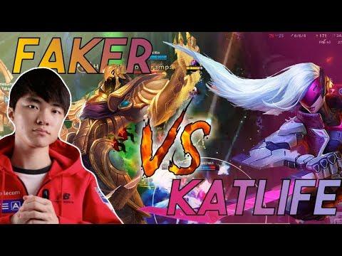Katlife  KATLIFE vs FAKER  I SNIPED FAKER IN SOLO QUEUE