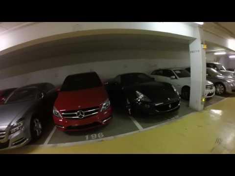 GOPR0995 - EUROPE 2014 MONACO - Marriott's parking lot... Ferraris, Lambos, Bentleys.....