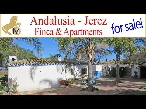 SOLD: Country property finca rental units Jerez Cadiz Andalusien Reitimmobilie zu verkaufen