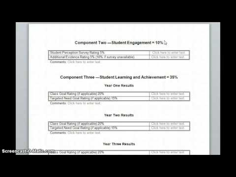 WK Teacher Evaluation Process (Year 1 & 2)