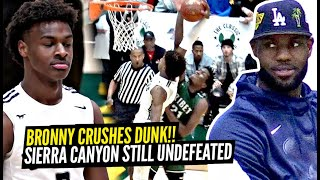 LeBron Watches Bronny James TAKE OFF ON Defender & Get FOULED Hard! Sierra Canyon GOES NUTS!!