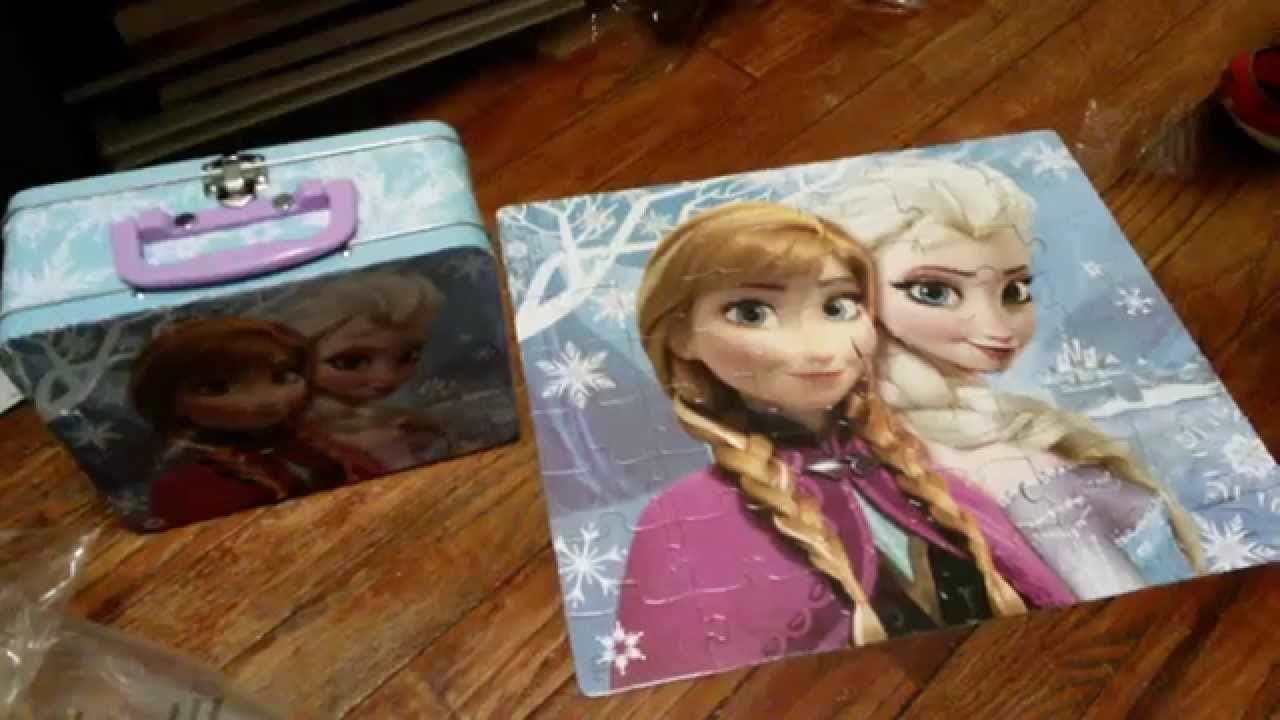 disney frozen 48 piece lunchbox puzzle review youtube
