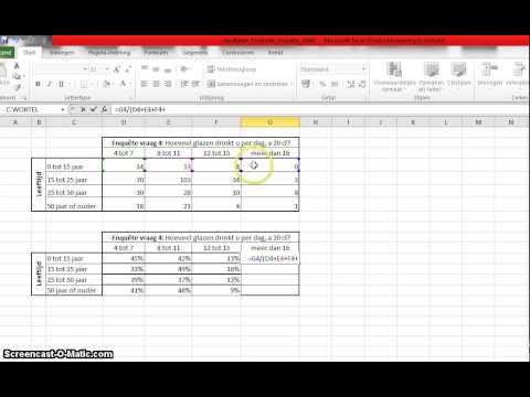 Video Opdracht Enquete Resultaten