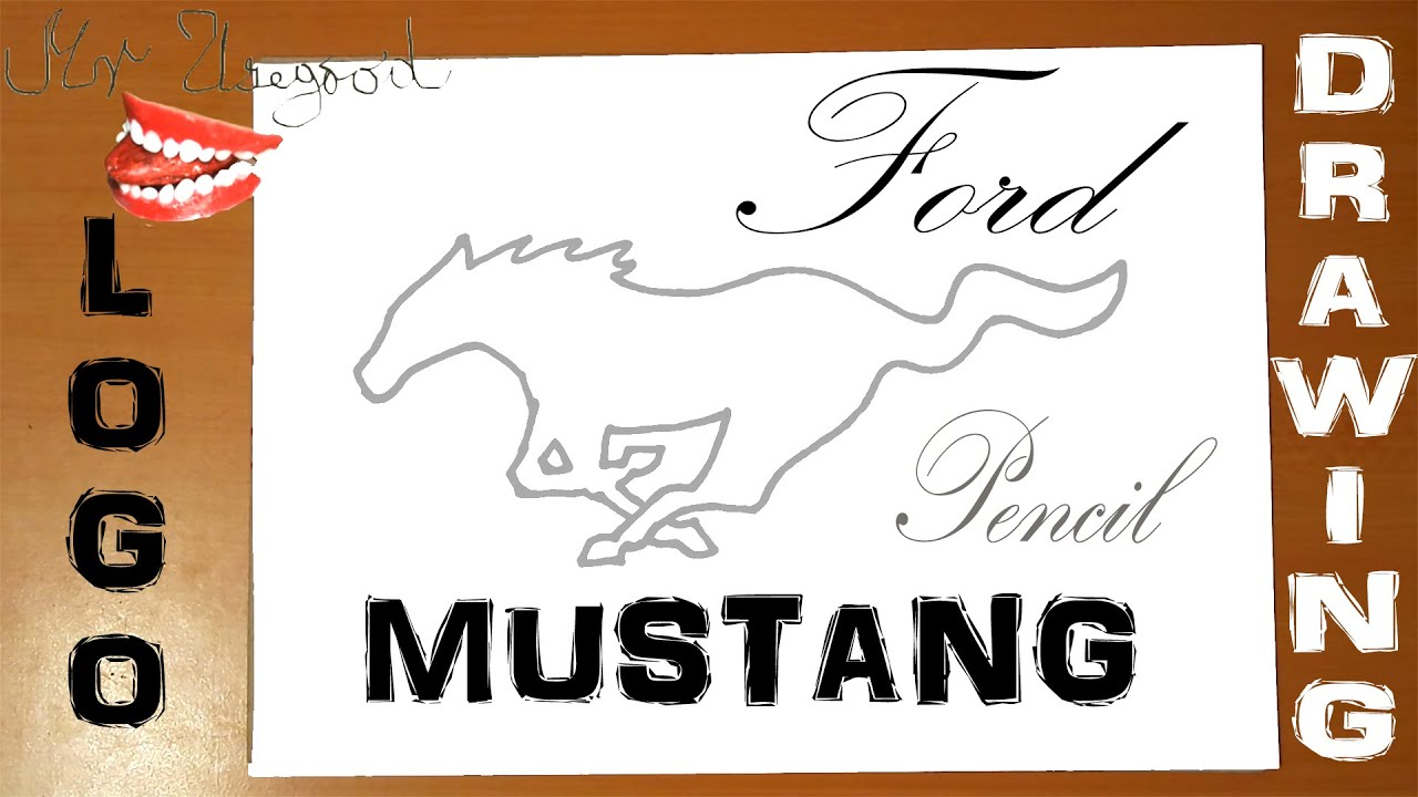how to draw a horse step by step for beginners easy ford mustang car logo wild horse pencil youtube