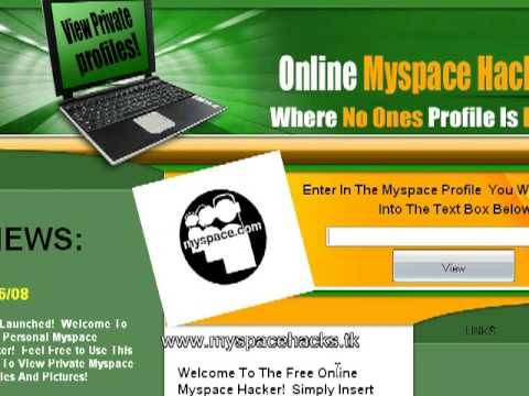 hacked private Myspace