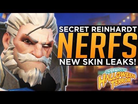 Overwatch: SECRET Reinhardt NERFS! - NEW Event Skin LEAKS!