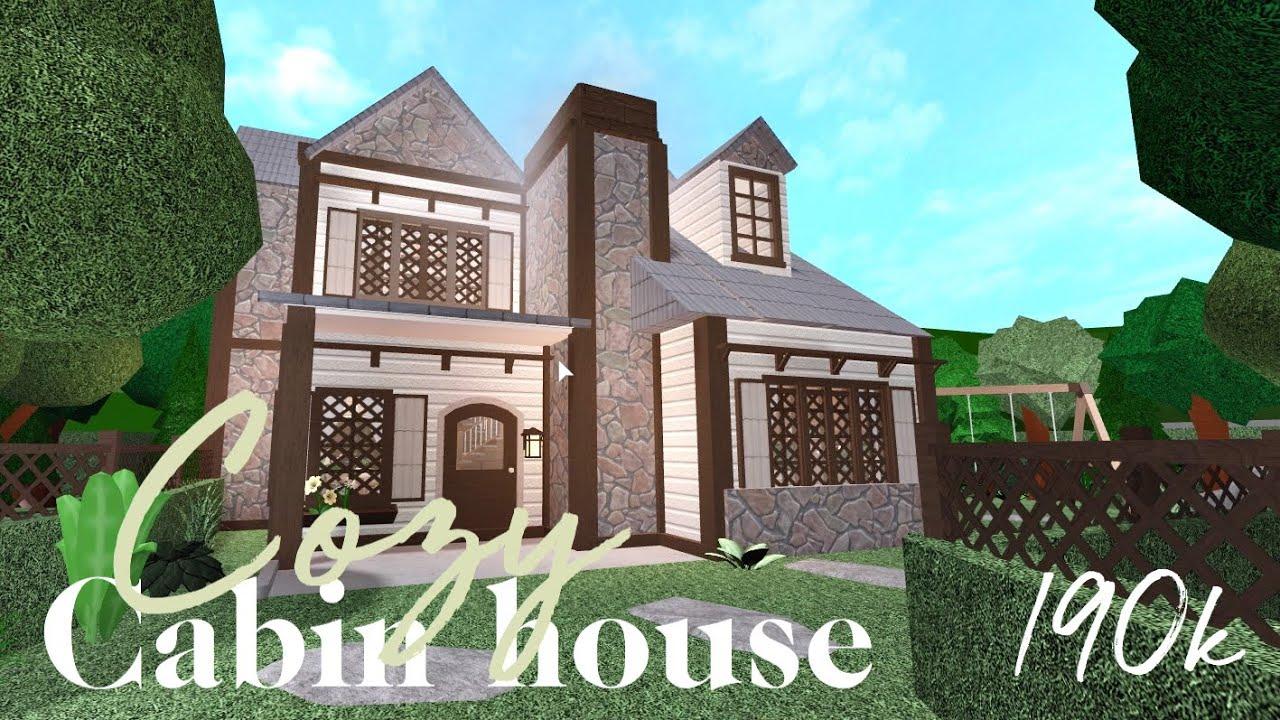 Bloxburg Cozy Cabin House Part 1 190k Youtube