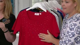 Quacker Factory Set of 2 Summer Sparkle Short Sleeve T-shirts on QVC