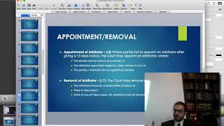 LBA Lecture: Overview of Arbitration and Arbitration Act 1940 by Barrister Hassan Nawaz Sheikh (2/2)