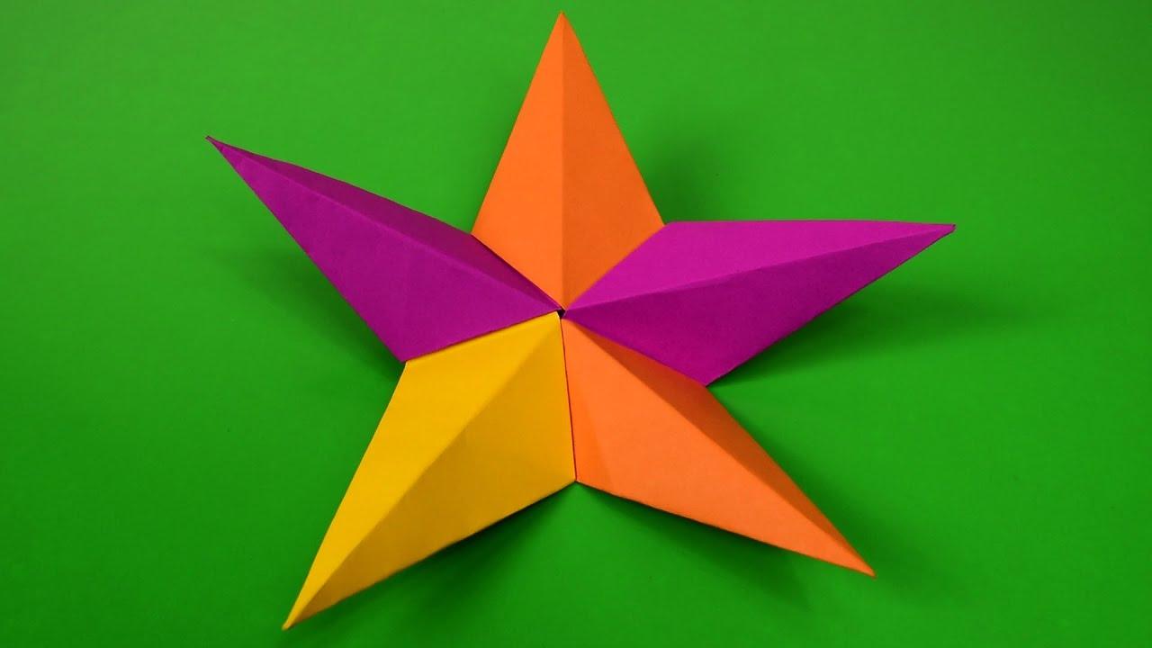 5 Point Star Origami - YouTube - photo#18