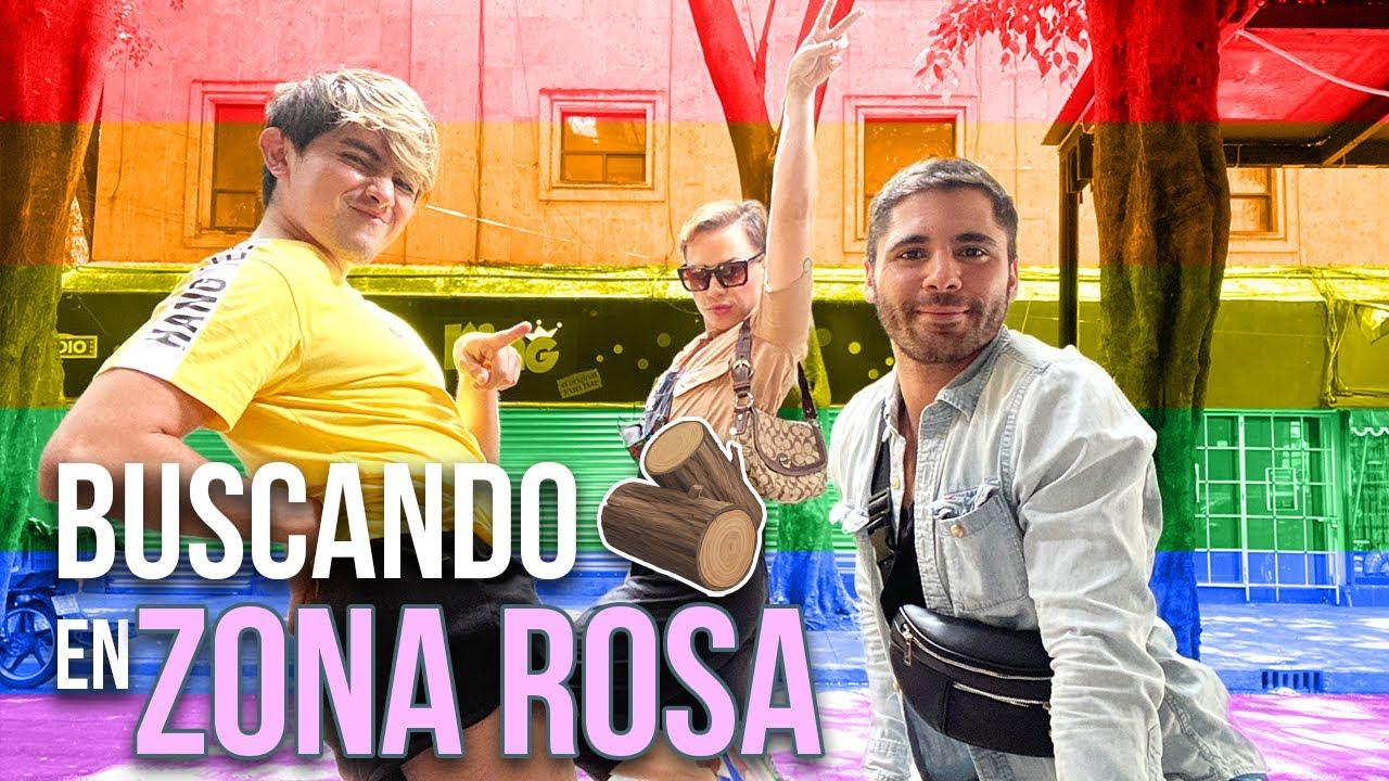 BUSCANDO  EN ZONA ROSA CON @Damian Cervantes y @Its Georgie Boy #PaquitaEnLaCapital