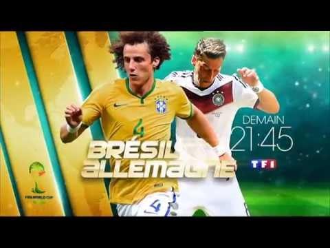 bresil allemagne demain 21h45 tf1 7 7 2014 fifa coupe du monde bresil world cup brazil football. Black Bedroom Furniture Sets. Home Design Ideas