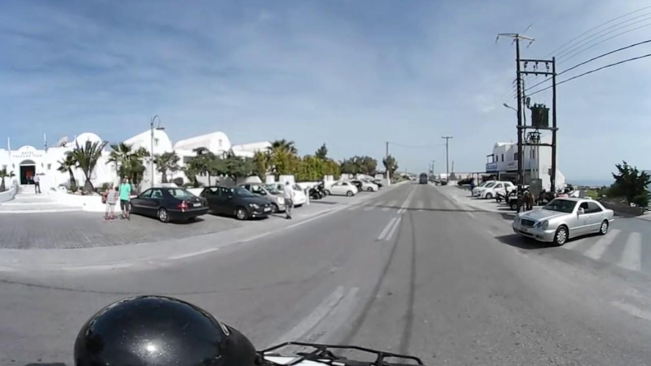 Driving In Santorini 360 Video