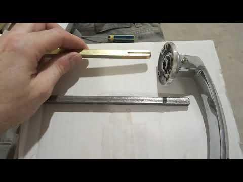 Короткий квадрат(четырехугольник) для дверной ручки. Альтернатива.