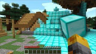 Minecraft DIAMOND HOUSE MOD / TRANSFORMING EVERYTHING INTO DIAMONDS!! Minecraft Mods