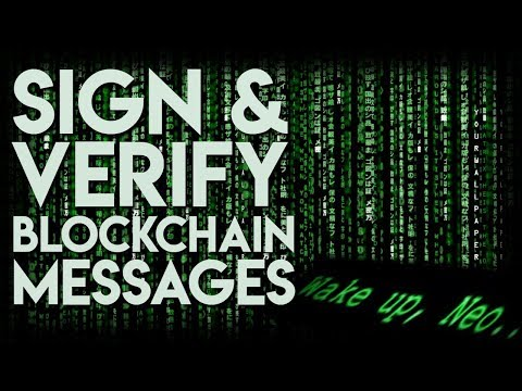 Signing And Verifying Blockchain Messages