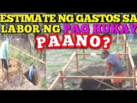 MADALING PAG COMPUTE NG GASTOS SA LABOR NG PAGHUHUKAY (EXCAVATION)