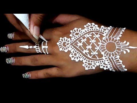 ᴴᴰ White Henna Hands Art Designs Inspired