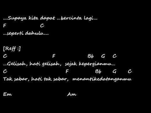 Kerinduan Rhoma Irama & Rita Sugiarto Chord Lirik