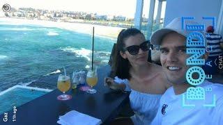 Gaz Beadle with girlfriend Emma McVey in Sydney | Snapchat Videos | March 26 2017