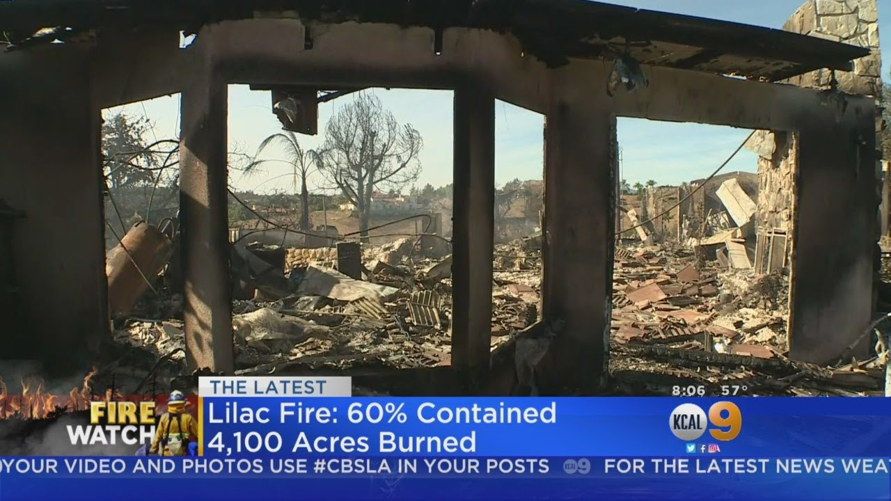 4,100-Acre Lilac Fire In San Diego County 60 Percent Contained
