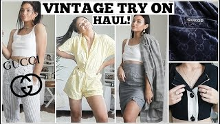 THRIFTED GUCCI!! Vintage Try-on Haul!