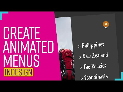 How to create animated menus | InDesign Tutorial