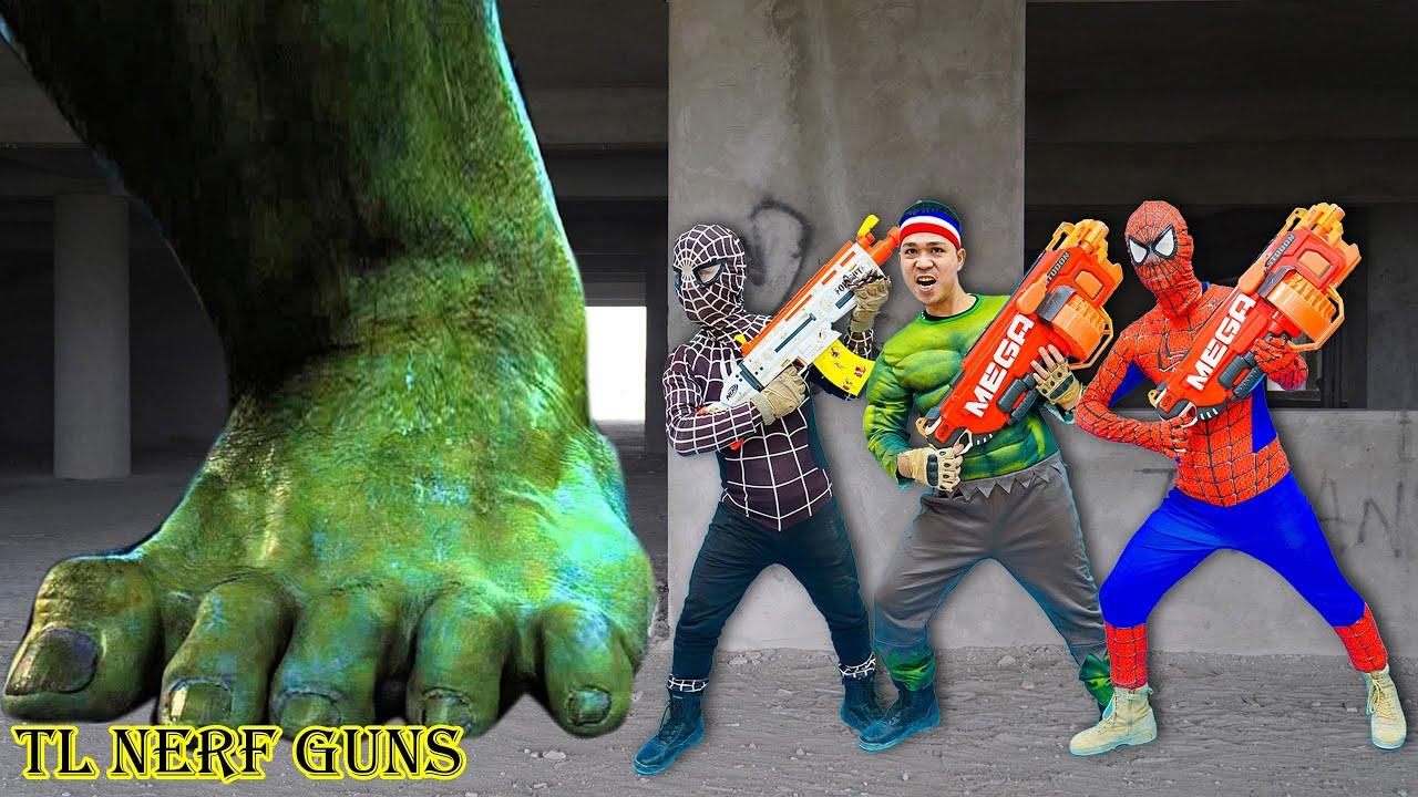 Superhero Nerf War: Spiderman X Warriors Nerf Guns Fight Criminal Group  Destroy FAKE Superheroes