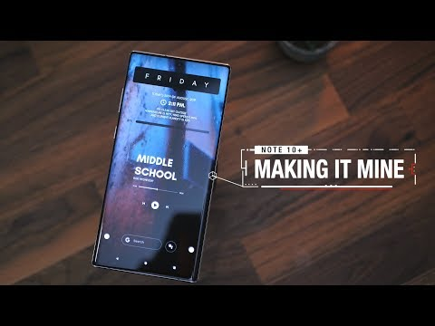 Customizing the Samsung Galaxy Note 10 Plus