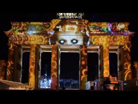 Brandenburger Tor Light Show Berlin Leuchtet 30 9 2017 Youtube
